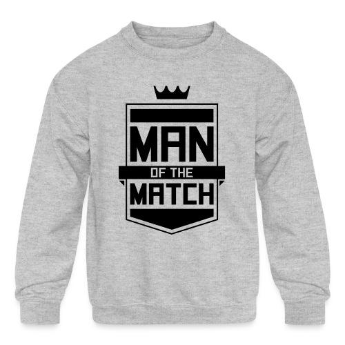 Man of the Match - Kids' Crewneck Sweatshirt