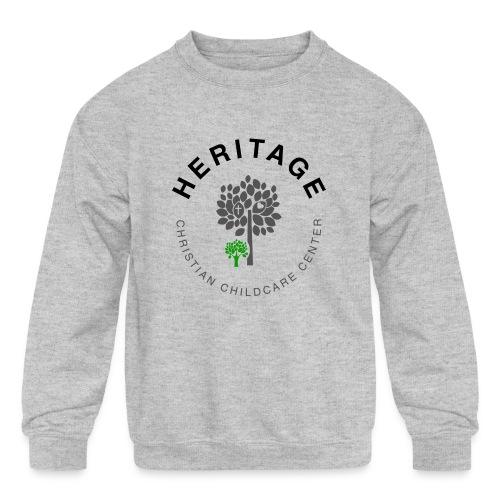 HCCC Front Logo - Kids' Crewneck Sweatshirt