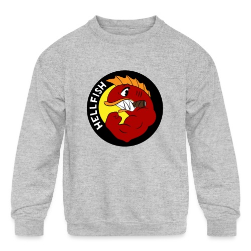 Hellfish - Flying Hellfish - Kids' Crewneck Sweatshirt