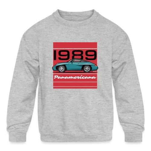 1989 P0r5che Panamericana Concept Car - Kids' Crewneck Sweatshirt