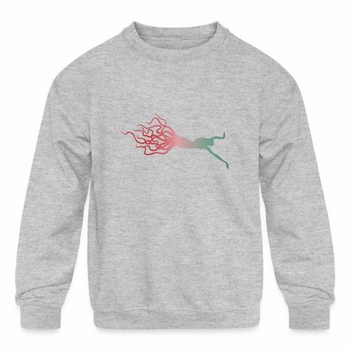 Octowoman fade - Kids' Crewneck Sweatshirt