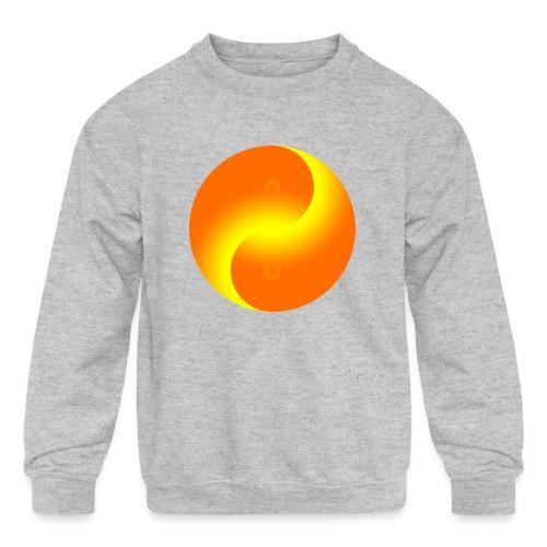 Yin Yang fire - Kids' Crewneck Sweatshirt