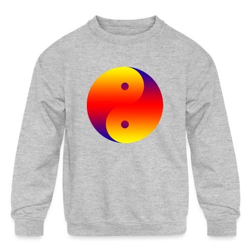 Yin Yang colorful - Kids' Crewneck Sweatshirt