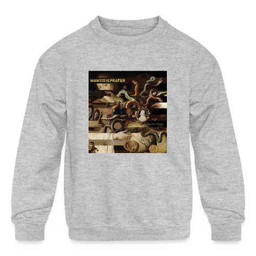 Mantis and the Prayer- Butterflies and Demons - Kids' Crewneck Sweatshirt