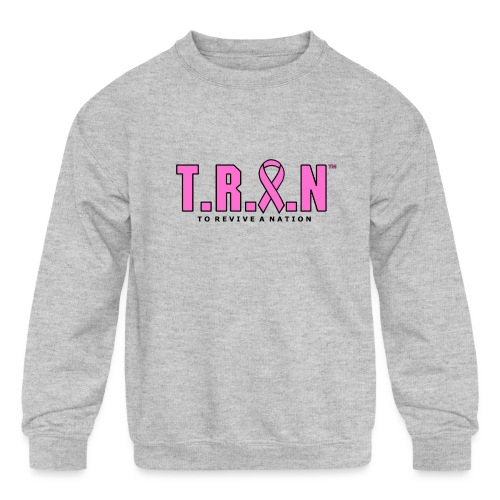 TRAN Ribbon Logo - Kids' Crewneck Sweatshirt