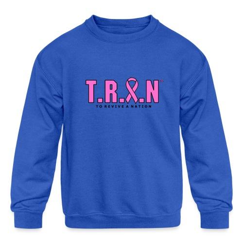 TRAN Ribbon Logo - Kids' Crewneck Sweatshirt
