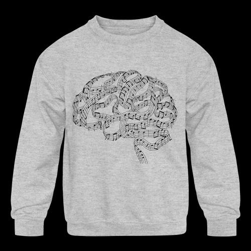 Sound of Mind | Audiophile's Brain - Kids' Crewneck Sweatshirt
