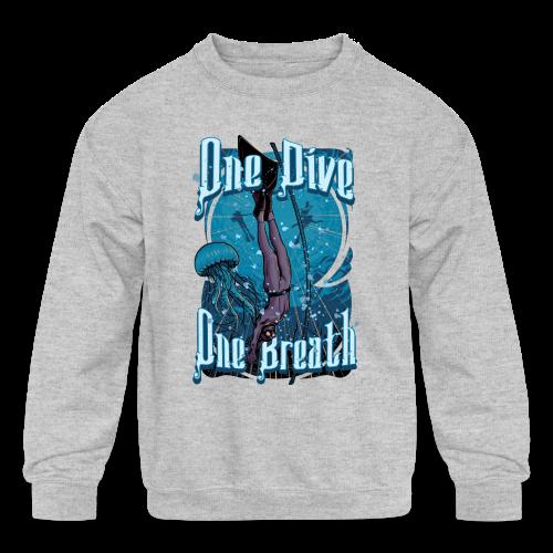 One Dive One Breath Freediving - Kids' Crewneck Sweatshirt