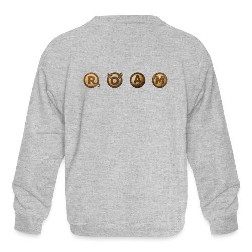ROAM letters sepia - Kids' Crewneck Sweatshirt