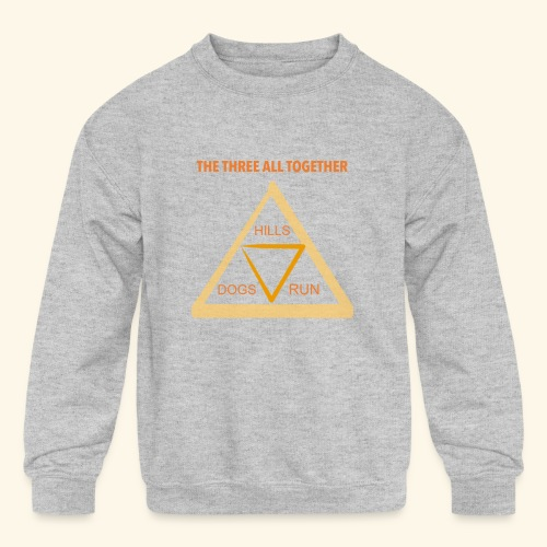 Run4Dogs Triangle - Kids' Crewneck Sweatshirt