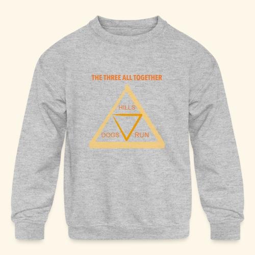 Run4Dogs Triangle - Kids' Crewneck Sweatshirt