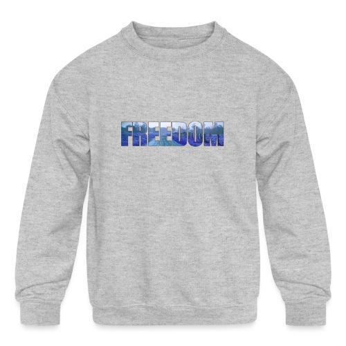 Freedom Photography Style - Kids' Crewneck Sweatshirt