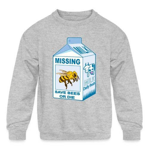 Missing Bees - Kids' Crewneck Sweatshirt