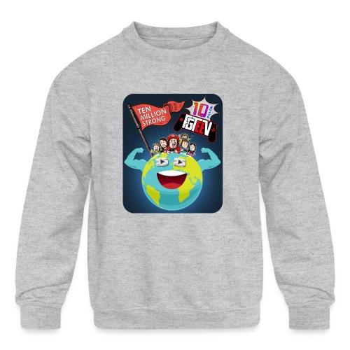 FGTeeV 10 Million (Adult) - Kids' Crewneck Sweatshirt