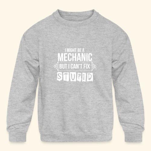 Auto Mechanic T Shirts For Men, Women,Kids,Babies - Kids' Crewneck Sweatshirt