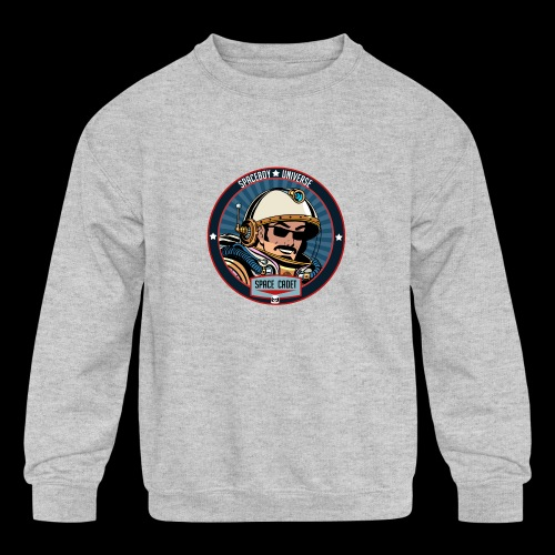 Spaceboy - Space Cadet Badge - Kids' Crewneck Sweatshirt