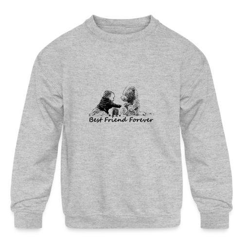 Best Friend Forever (boy) - Kids' Crewneck Sweatshirt