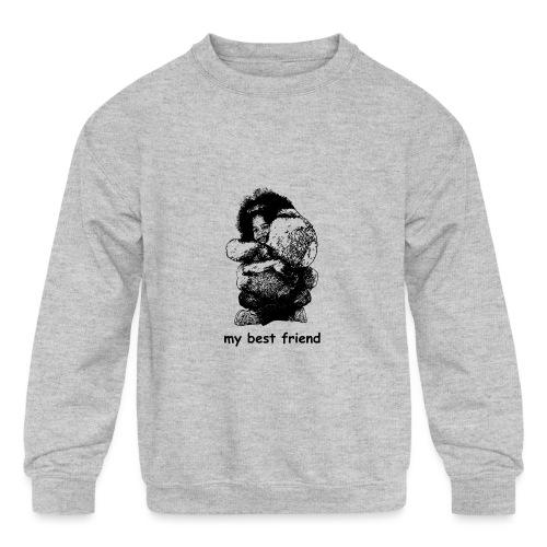 My best friend (girl) - Kids' Crewneck Sweatshirt