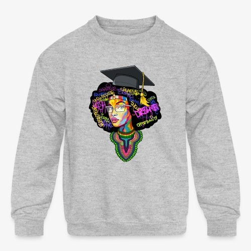 Black Educated Queen School - Kids' Crewneck Sweatshirt