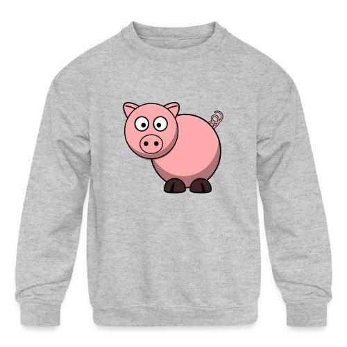 Funny Pig T-Shirt - Kids' Crewneck Sweatshirt