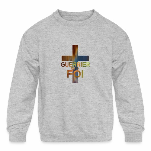 WARRIOR OF FAITH - Kids' Crewneck Sweatshirt