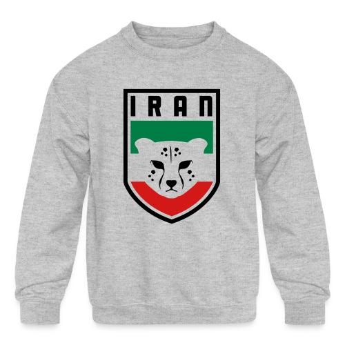 Iran Cheetah Badge - Kid's Crewneck Sweatshirt