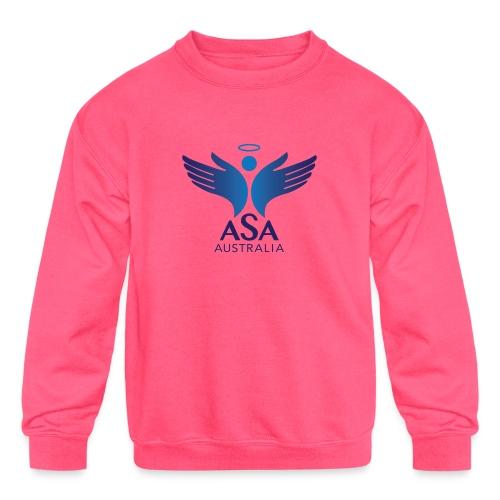 3459 Angelman Logo AUSTRALIA FA CMYK - Kids' Crewneck Sweatshirt