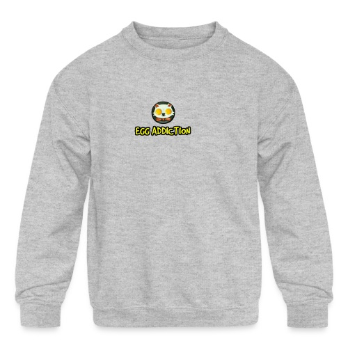 Egg Adiction - Kids' Crewneck Sweatshirt