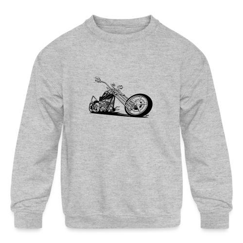 Custom American Chopper Motorcycle - Kids' Crewneck Sweatshirt