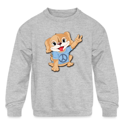 Peace Puppy - Kids' Crewneck Sweatshirt