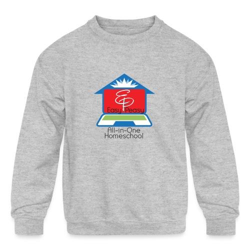 EP Logo with All-In-One Homeschool - Kids' Crewneck Sweatshirt