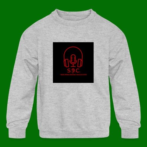 SPC Logo Black/Red - Kids' Crewneck Sweatshirt