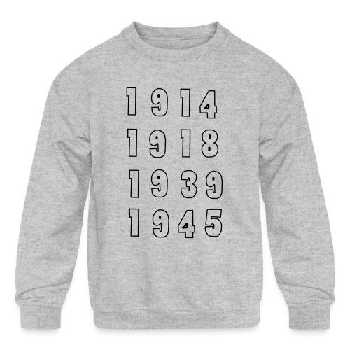 Great War Dates - Kids' Crewneck Sweatshirt