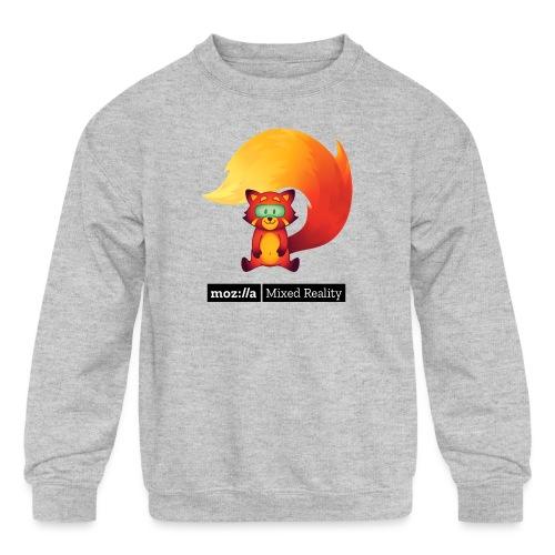 Sitting Foxr (black MR logo) - Kids' Crewneck Sweatshirt