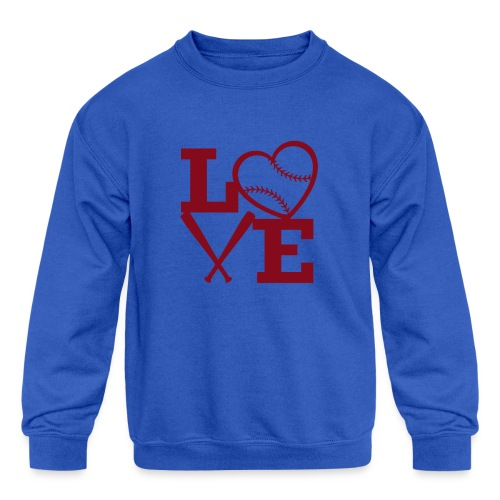 Love baseball - Kids' Crewneck Sweatshirt