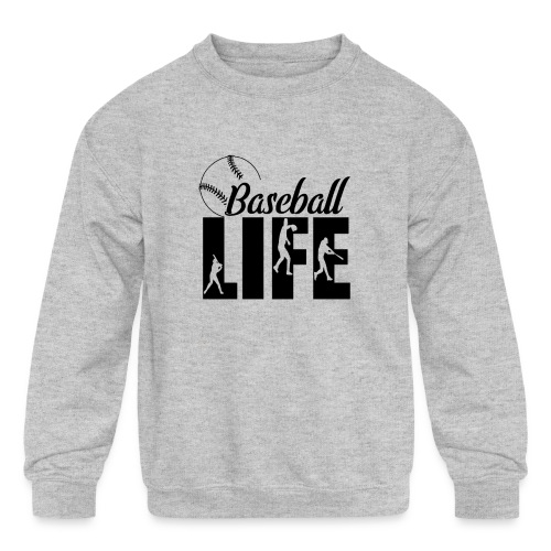 Baseball life - Kids' Crewneck Sweatshirt
