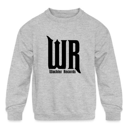 Wachler Records Dark Logo - Kids' Crewneck Sweatshirt
