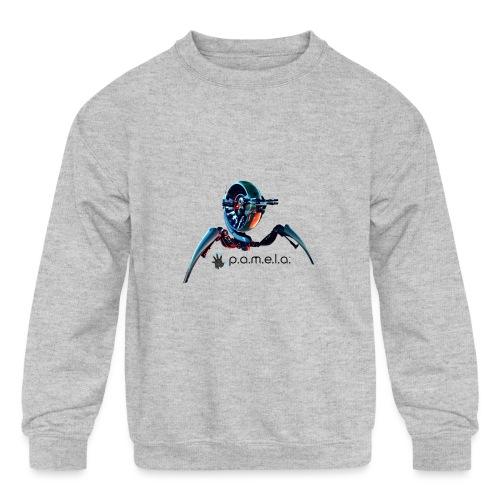 P.A.M.E.L.A. Turret - Kids' Crewneck Sweatshirt