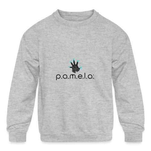 P.A.M.E.L.A. Logo Black - Kids' Crewneck Sweatshirt