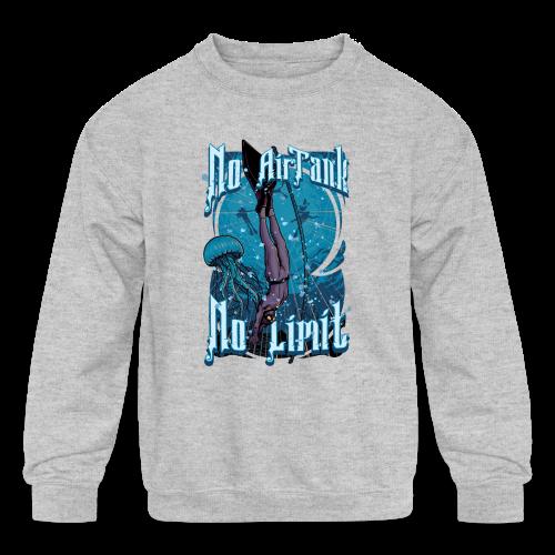 No Air Tank No Limit Freediving merchandise - Kids' Crewneck Sweatshirt