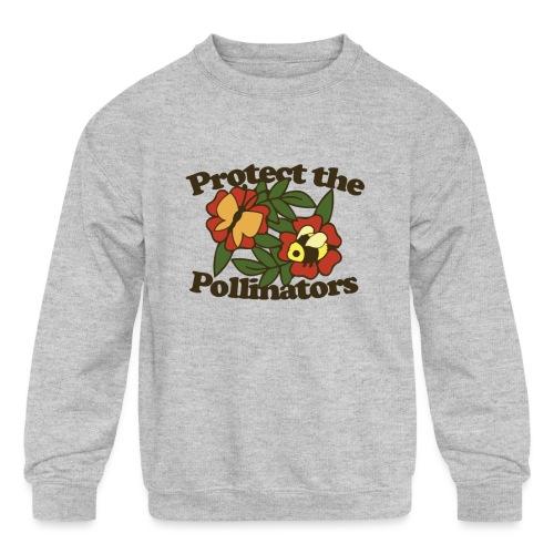Protect the pollinators - Kids' Crewneck Sweatshirt