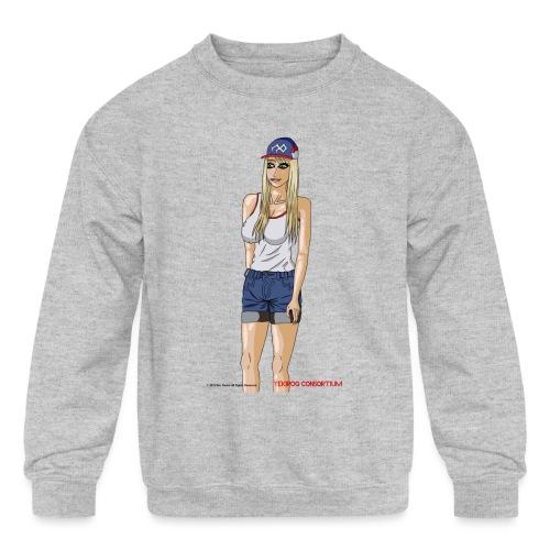 Gina Character Design - Kids' Crewneck Sweatshirt