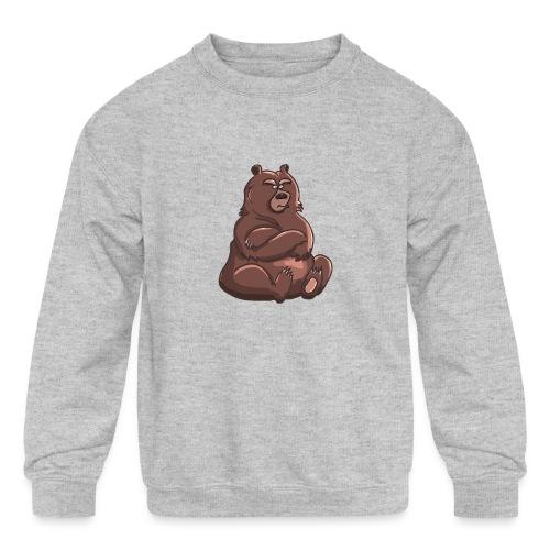 Bear in Contempt T-Shirt - Kids' Crewneck Sweatshirt