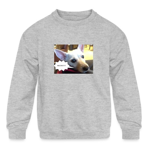 I smell bacon - Kids' Crewneck Sweatshirt