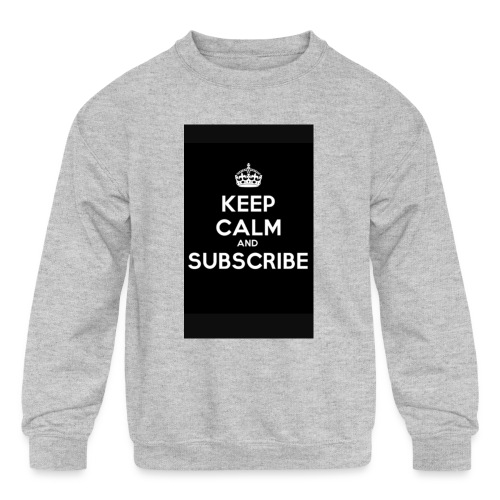 Keep calm merch - Kids' Crewneck Sweatshirt