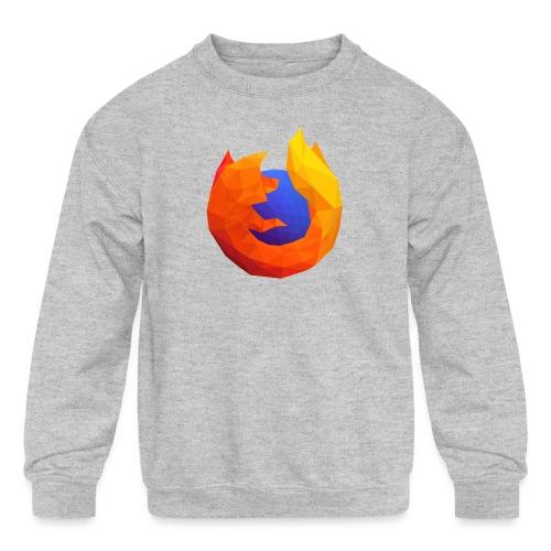 Firefox Reality Logo - Kids' Crewneck Sweatshirt