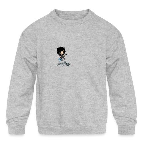 axelofabyss self portrait - Kids' Crewneck Sweatshirt