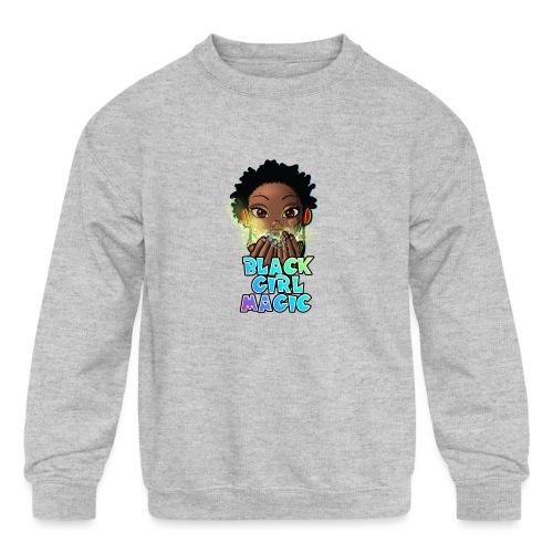 Black Girl Magic - Kids' Crewneck Sweatshirt