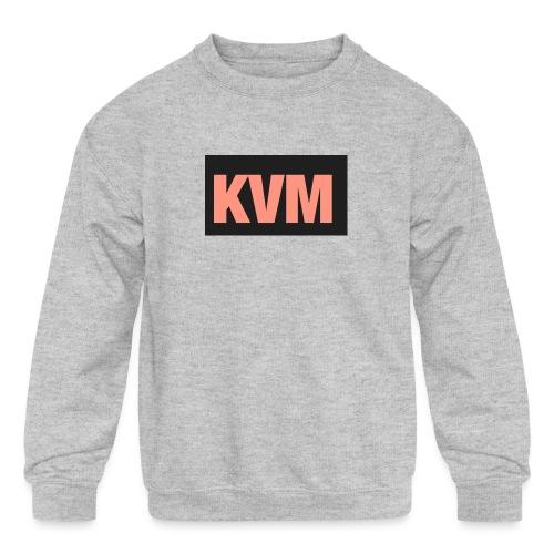 Kas vlogs m - Kids' Crewneck Sweatshirt
