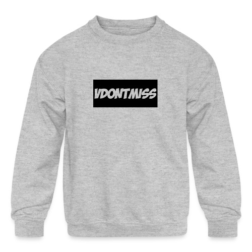 vDontMiss Nation - Kids' Crewneck Sweatshirt